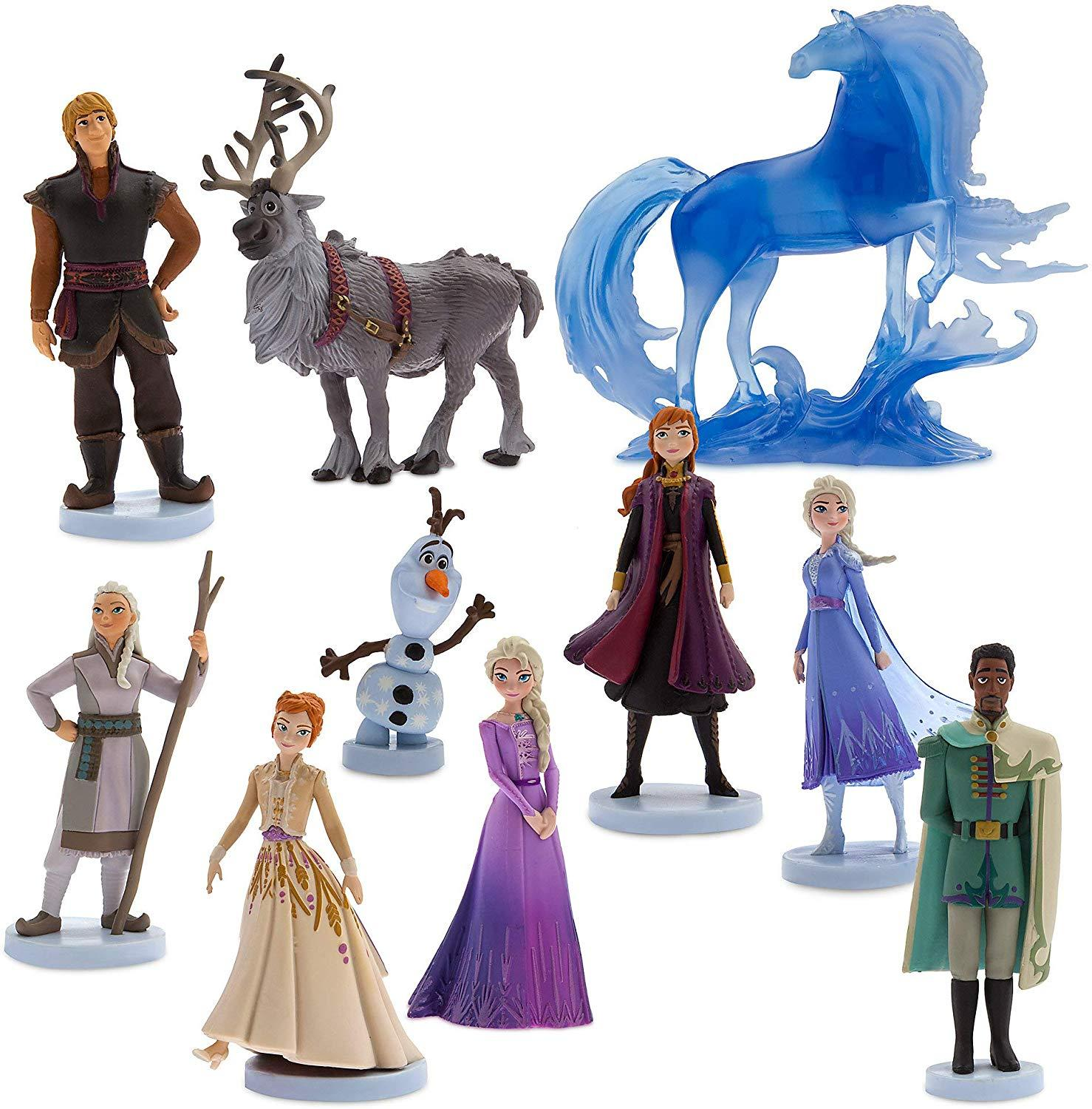 New 1set Disney Frozen 2 Snow Queen Elsa Anna PVC Action Figure Olaf Kristoff Sven Anime Dolls Figurines Kids Toy Children Gift
