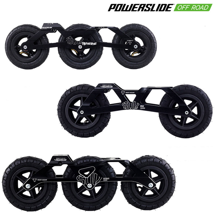 Original Powerslide Trinity SUV Speed Skates Frames 3*125mm Renegade 2*150mm Edge 3*150mm Outback Chargeable Wheels Patines Base