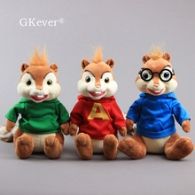 30 cm Alvin and the Chipmunks Simon Theodore Plush Toys Doll Peluche Cute Squirrel Soft Stuffed Animals Toy Women Kids Gift