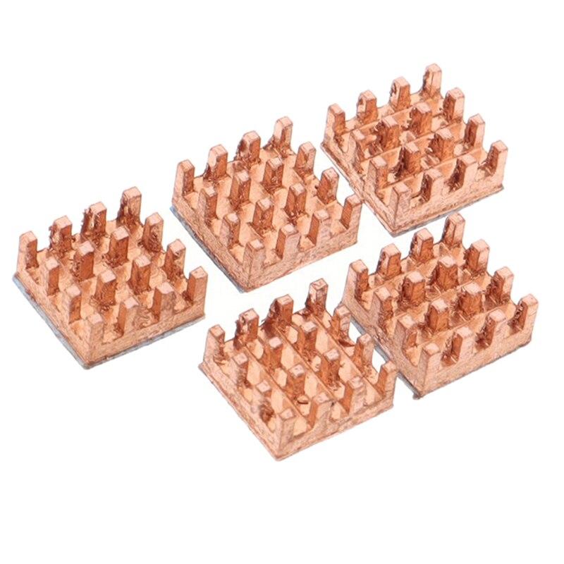 5 шт. практичный радиатор 9x9x4 мм из чистой меди, радиатор с памятью ОЗУ, клейкий задний Охлаждающий радиатор MOS, Радиатор GPU IC, радиатор для чип...