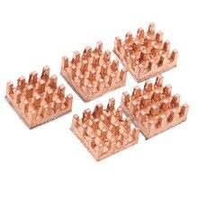 5 adet pratik 9x9x4mm saf bakır ısı emici RAM bellek yapışkanlı soğutma MOS radyatör GPU IC yonga seti soğutucu soğutucu
