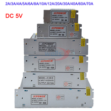 Wholesale DC 5V Lighting Transformer 2A/3A/4A/5A/6A/8A/10A/12A/20A/30A/40A/60A/70A led strip Switching Power Supply led driver цена