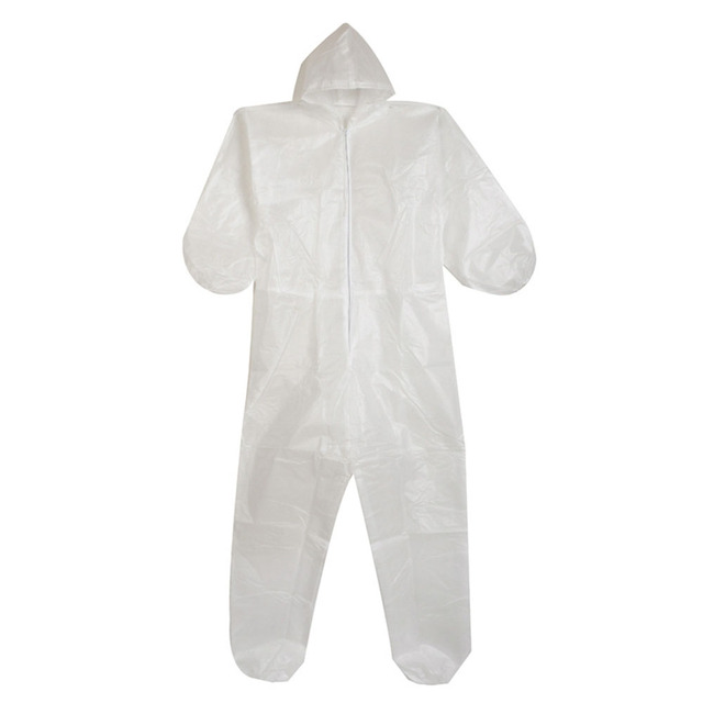 Disposable Anti-epidemic Antibacterial Plastic Closures Isolation Suit Protective Clothing Dust-proof Coveralls Antistatic 1