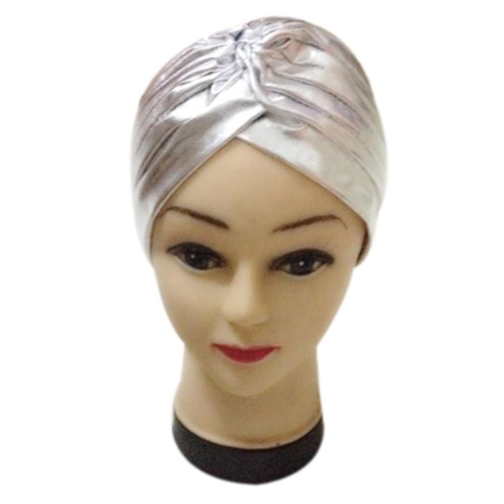 Women's Turban Caps Pleated Stretchable Polyester Bathing Leopard Print Turban Hat Head Cover Sun Cap Beanie Head Wrap Cap