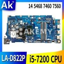 For DELL Vostro 5468 5568 Laptop Motherboard SR2ZU I5-7200U