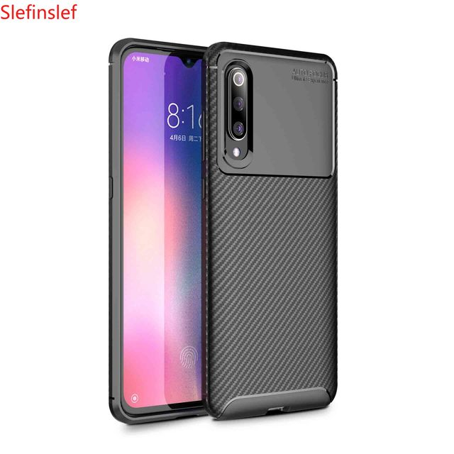 Shockproof Phone Case Bumper Silicone Carbon fiber Cover On For Xiaomi MI 9 SE 9T Pro Mi9 9SE Mi9t t 6/8 64/128/256 GB Xiomi
