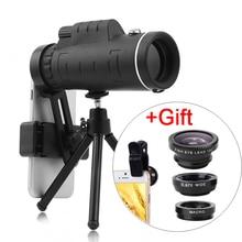 3в1 объектив Универсальный 40X Оптическое стекло зум телескоп телефото мобильный телефон объектив камеры для iPhone 11 Samsung смартфонов lense