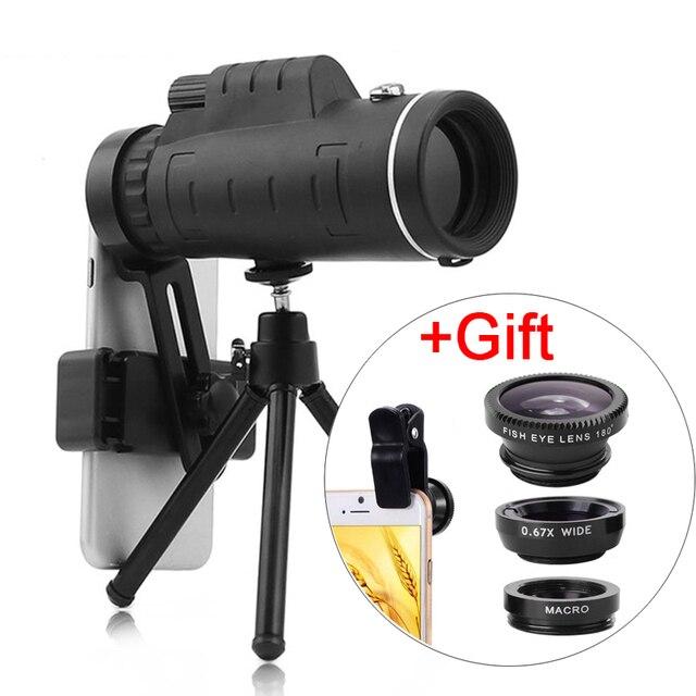 3In1 Universale Lente 40X Vetro Ottico del Telescopio Dello Zoom Teleobiettivo Obiettivo della Fotocamera Del Telefono Mobile Per il iPhone 11 Samsung Smartphone lente