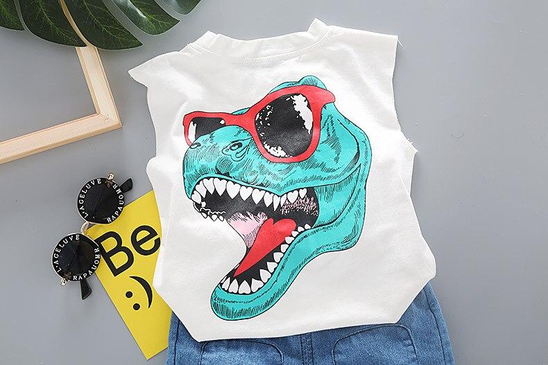 dos desenhos animados verao criancas roupas dinossauros 05