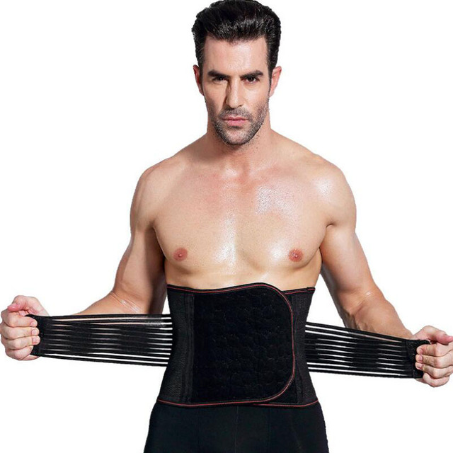 Mens Slimming Corset Body Shaper Waist Trainer Belts  Waist Support Sweat Underwear Strap Modeling Shapers 1