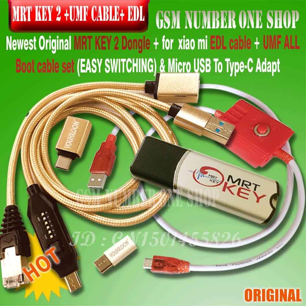 Llave electrónica MRT 2 original 2020 + para GPG xiao mi EDL cable + UMF, conjunto de todos los cables de arranque (conmutación fácil) y Mi cro USB a tipo-c