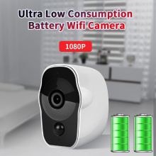 Wireless Battery Powered IP Camera 1080P Outdoor Wifi Camera Indoor Security CCTV Rechargeable /IR /Record /Audio/ Alarm