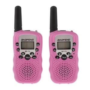 Image 4 - BaoFeng 2 sztuk/zestaw BF T3 UHF462 467MHz dzieci Walkie Talkie 22 kanały dla dzieci prezent dla dzieci Radio Kid Walkie Talkie + zaczep na pasek