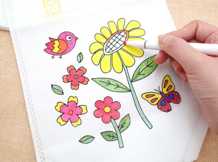 6Pcs Antistress Puzzles Educational Toy for Children DIY Eco-friendly Graffiti Bag Kindergarten Hand Painting Materials GYH 6