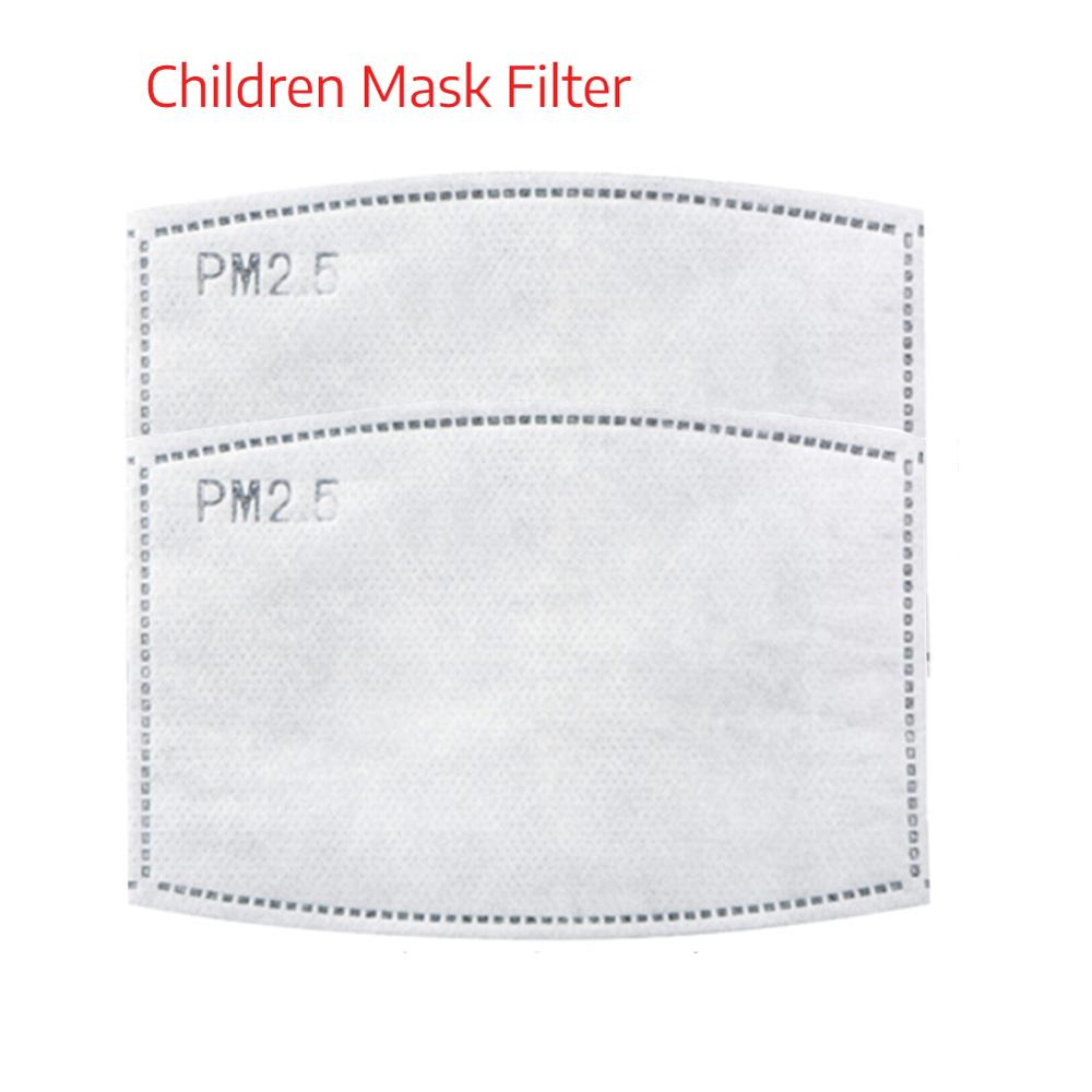2pcs Replacement Chip Pm2.5 Mask Replacement Core Filter For Children Mask Replacement Filter Activated Carbon Filter F