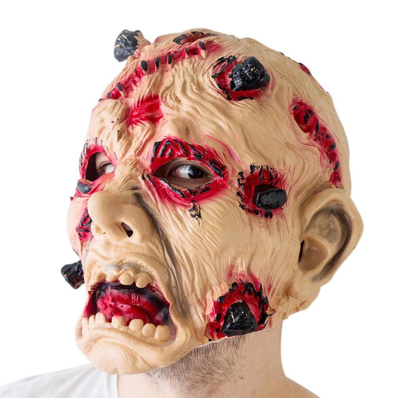Halloween Horror Mask Zombie Masks Party Cosplay Bloody Disgusting Rot Face Scary Masque Masquerade Mascara <font><b>Terror</b></font> Masker Latex image