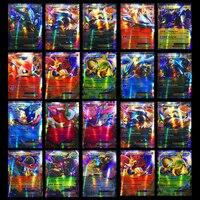 300 pçs gx 20 60 100 pçs mega brilhante cartões jogo batalha carte cartas de negociação jogo crianças pokemons brinquedo