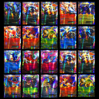 200 шт. GX 25 50 100 шт. Мега Сияющие карты игра битва карт торговые карты игра детская игрушка «Покемон»