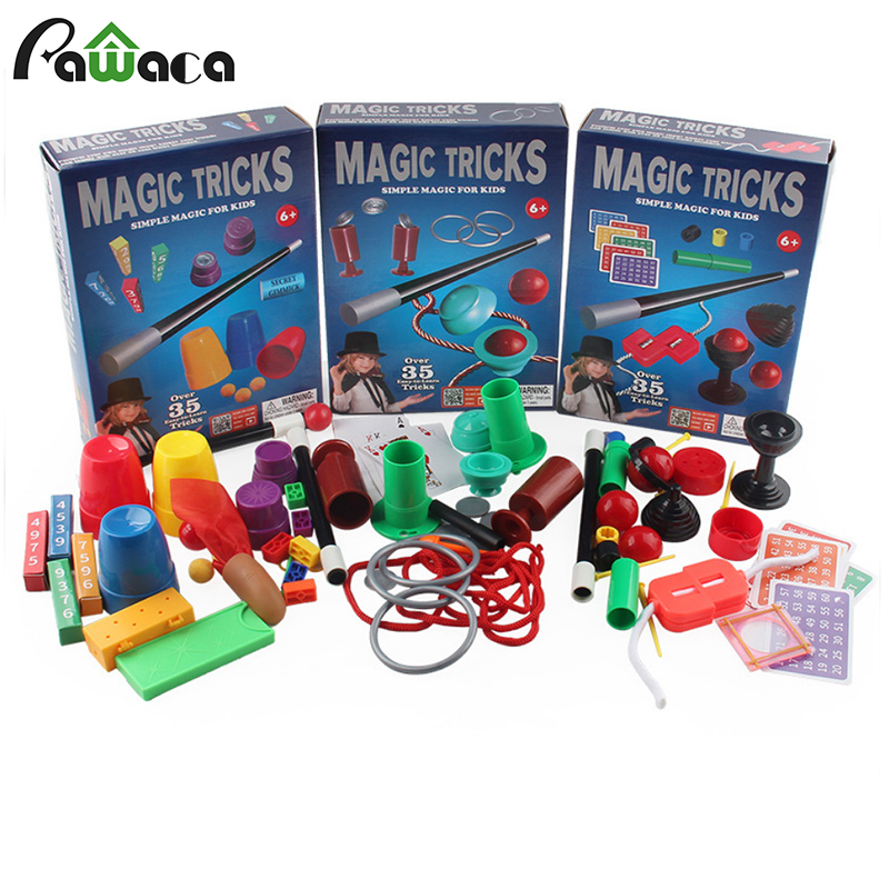 Quebra-cabeça magia simples prop iniciantes kit mágico conjunto para crianças-emocionante mágico truques desempenho mostrar, manual + manual de instruções