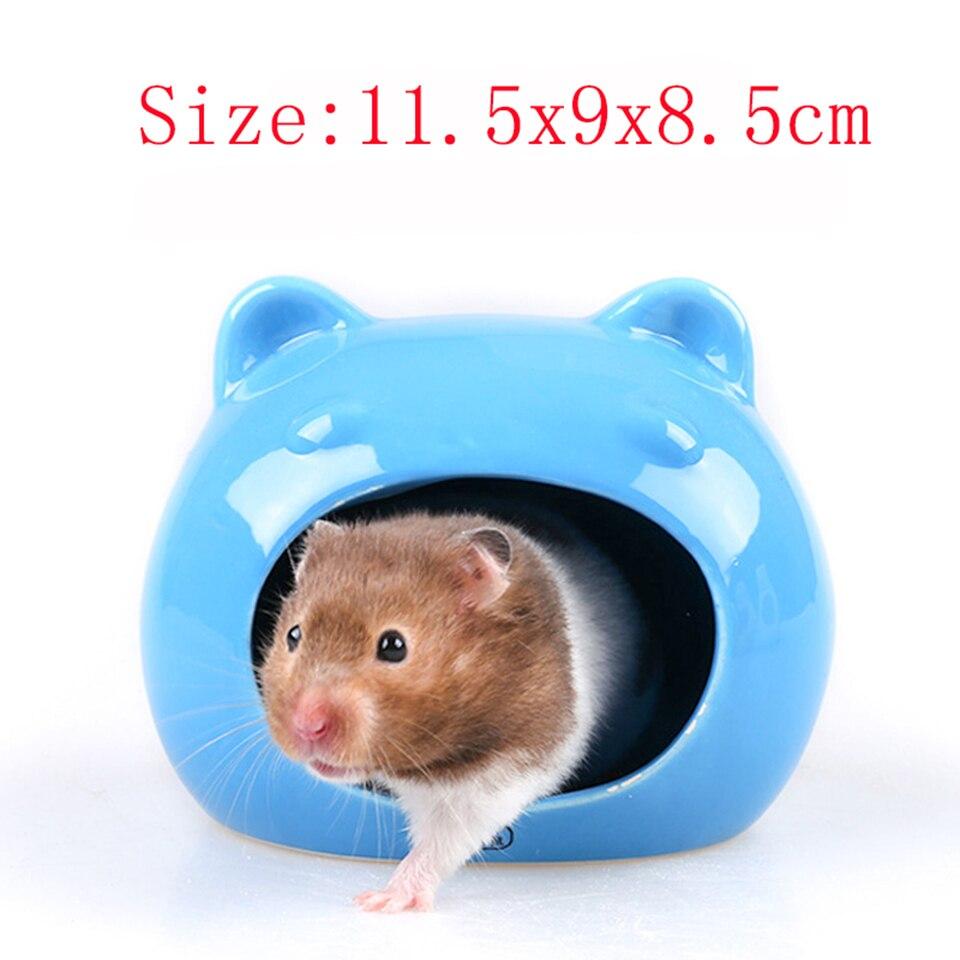 Hamster Keramik Nest Guinea Pig Schlaf Nest Kleine Pet Haus Iglu Shell Sommer Kuhlung Haus Hamster Liefert Cages Aliexpress