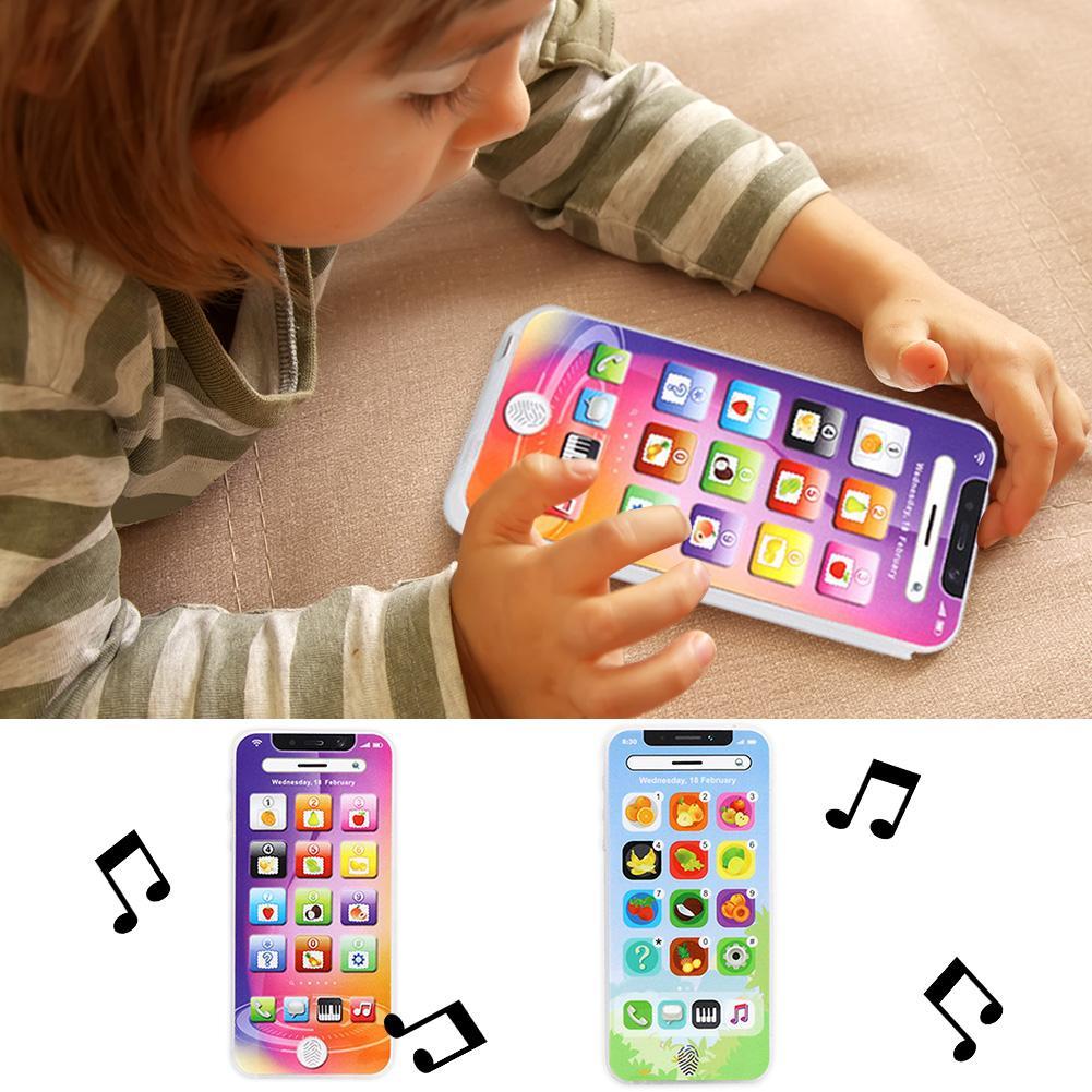 Cartoon Kids Funny Toys Children Educational Simulation Keyboard Sensitivity Charging Flashing Mobile Phone Toy Gift