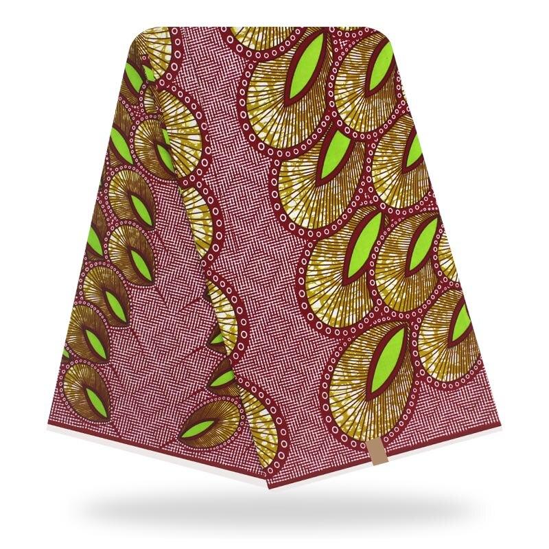 African Fabric Cotton Wax Material  Wax  Guaranteed Real  Wax 6yard/lot 2020 Hot Wax High Quality