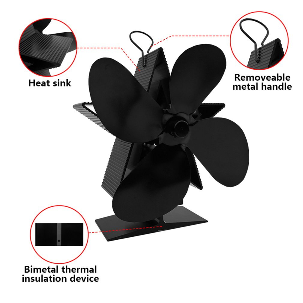 Premium Fireplace Thermodynamic Fan Alumina Fan Blade Ultra Quiet Warm Fireplace Fan Thermal Power Fan