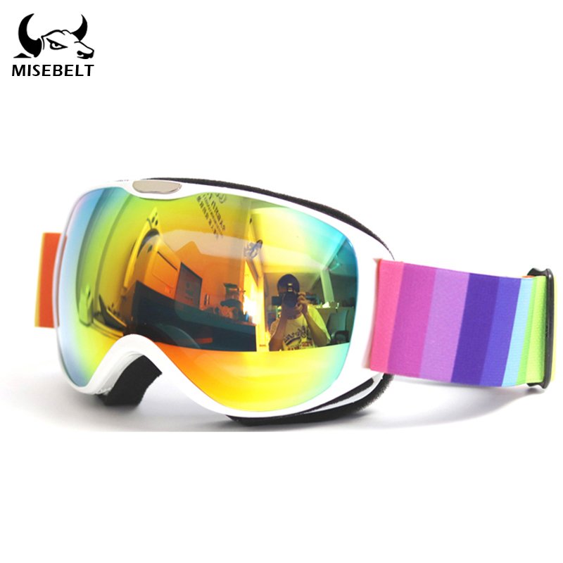 Anti-UV400 Children's Ski Glasses Double-layer Lens Windproof Anti-fog Children's Goggles Three-layer Sponge HD Goggles Climbing