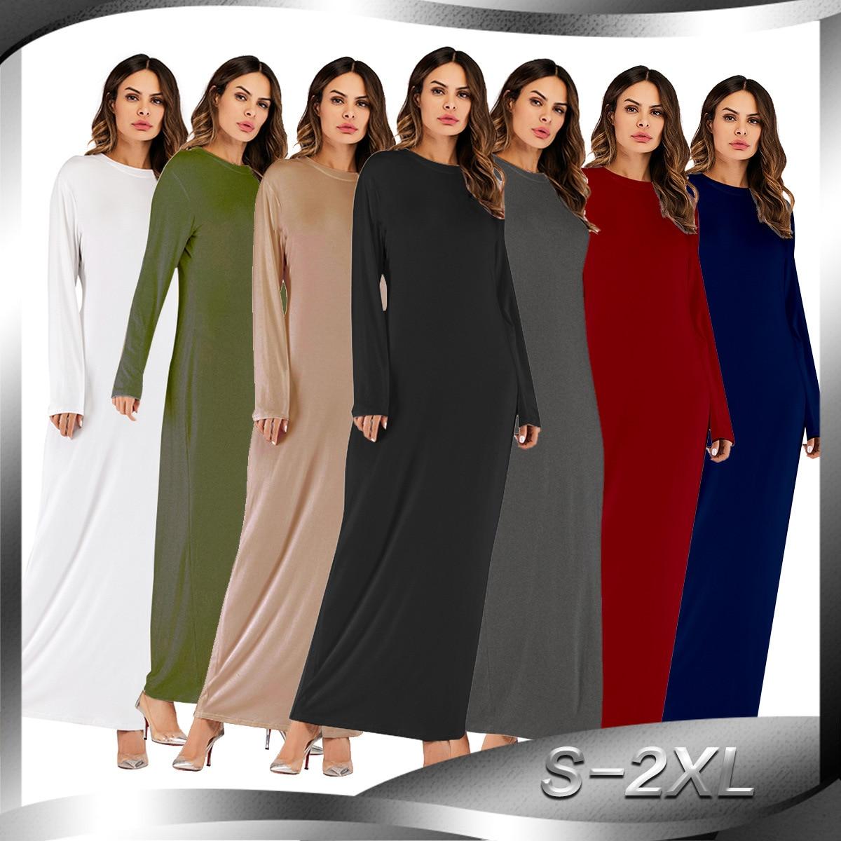 Dubai Turkish Muslim Basic Abaya Dress Women Kimono Caftan Hijab Maxi Dresses Islamic Clothing Moroccan Kaftan Robe Elbise Jubah