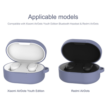 Wireless Headsets Protective Shells For Xiaomi MI Redmi AirDots Silicone Earphone Case Headphones Covers TWS Bluetooth Earphone image