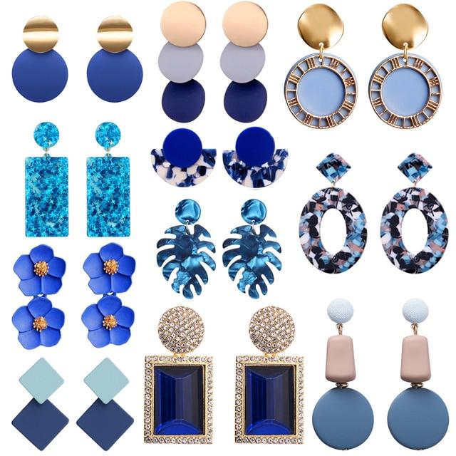 Blue Earrings for Women Sky Sea Color 1