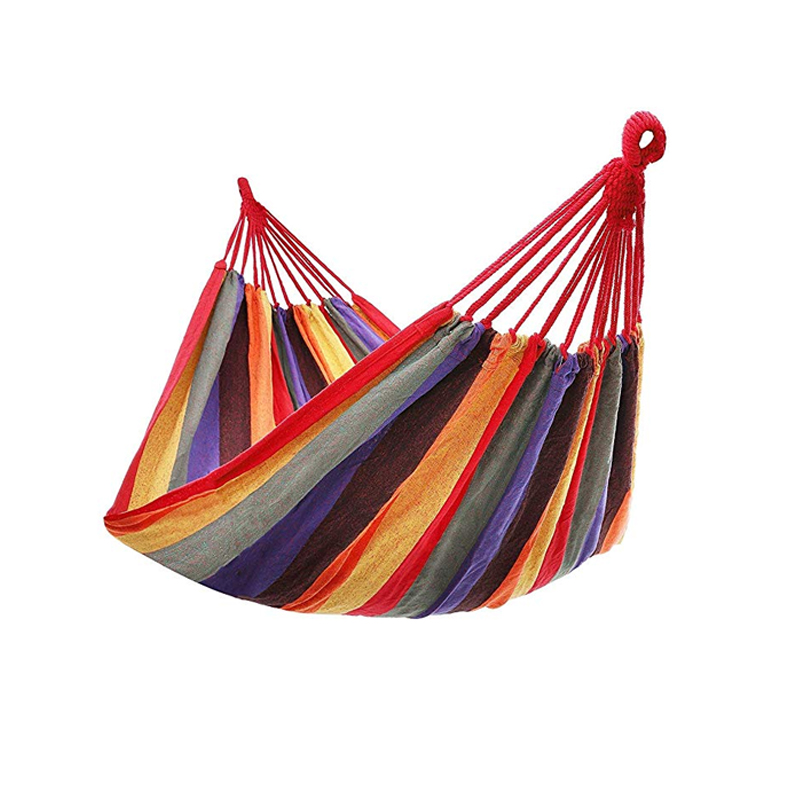 Camping Hammock Canvas Swing Bed Outdoor Backpack Survival Travel Equipment Suitable For Terrace Porch Hanging Chair 260*150cm