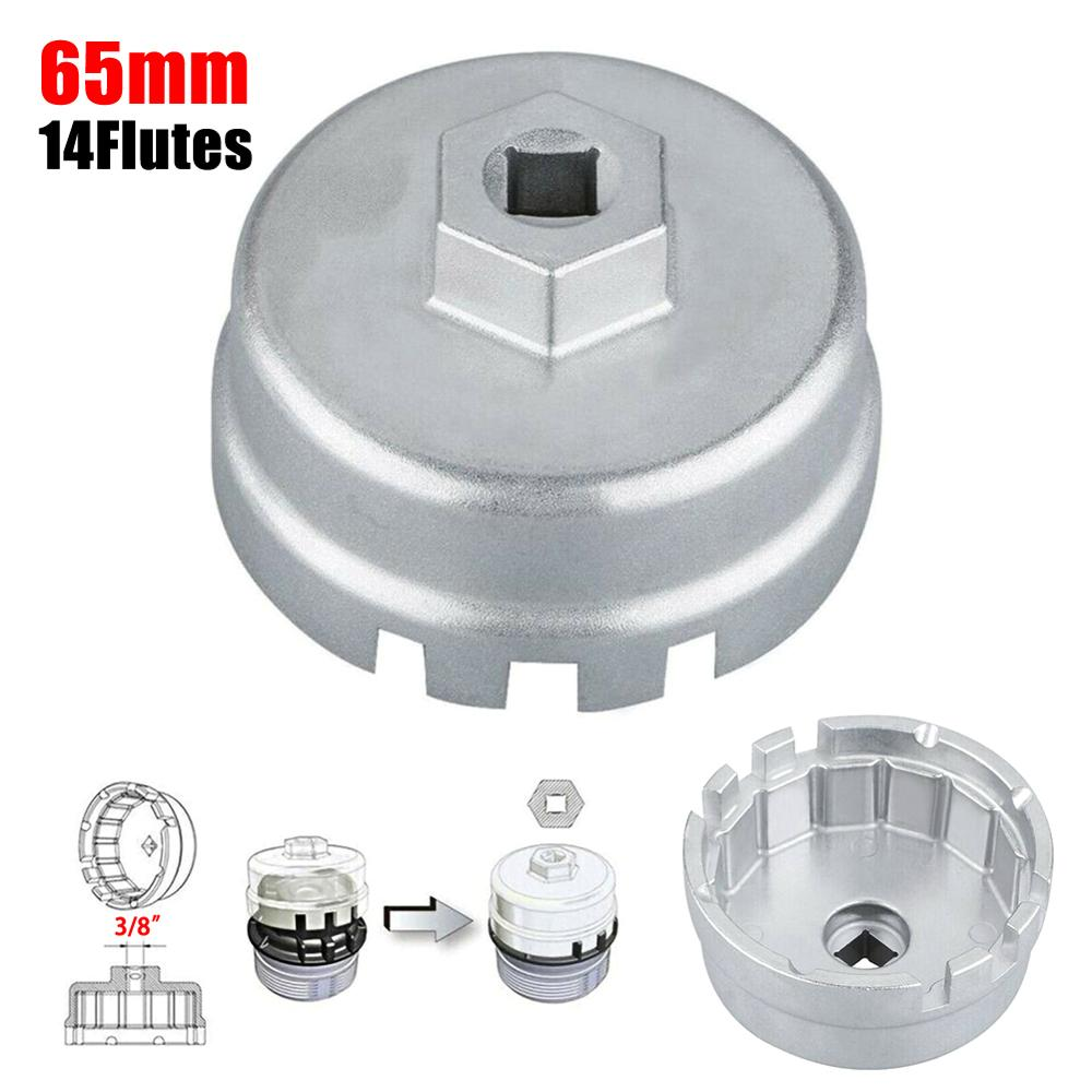 Universal 14 Flutes Oil Filter Wrench Caps Housing Tool Remover For TOYOTA Oil Filter Caps Wrench Cup Socket Remover For LEXUS