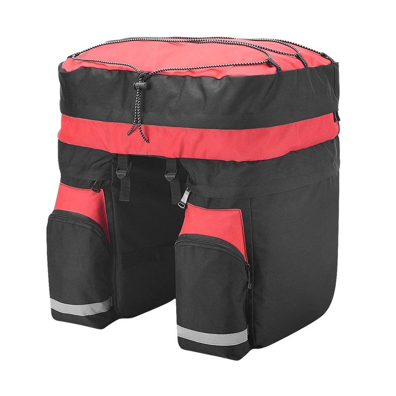ROSWHEEL Bicycle Carrier Bag 60L Rear Rack Trunk Bike Luggage Back Seat Pannier