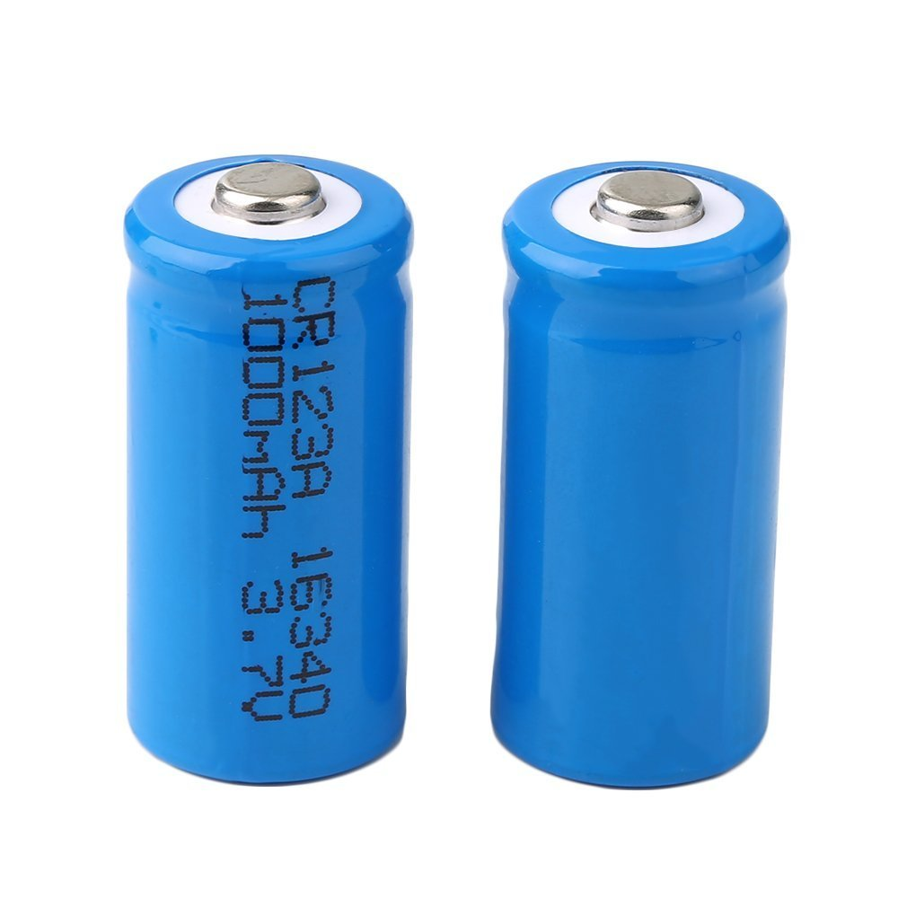 Professional 33.5*16*16mm <font><b>3.7V</b></font> <font><b>1000mAh</b></font> 16340 <font><b>Battery</b></font> 2 PCS Rechargeable Flashlight <font><b>Battery</b></font> Durable Power Tool image