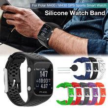 Correa de repuesto para reloj inteligente Polar M400/M430, Correa deportiva de silicona para correr con GPS