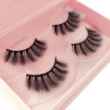 YSDO nautral hair mink Eyelashes thick 3D Mink False eyelashes crosscriss Dramatic fluffy 2 pairs lashes add tweezer makeup kit