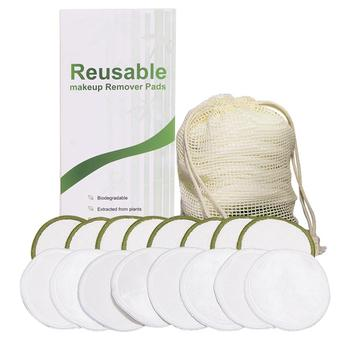 16 Uds de tres capas de terciopelo reutilizable removedor de maquillaje toallitas de fibra redonda lavable toalla lavable removedor de maquillaje de algodón
