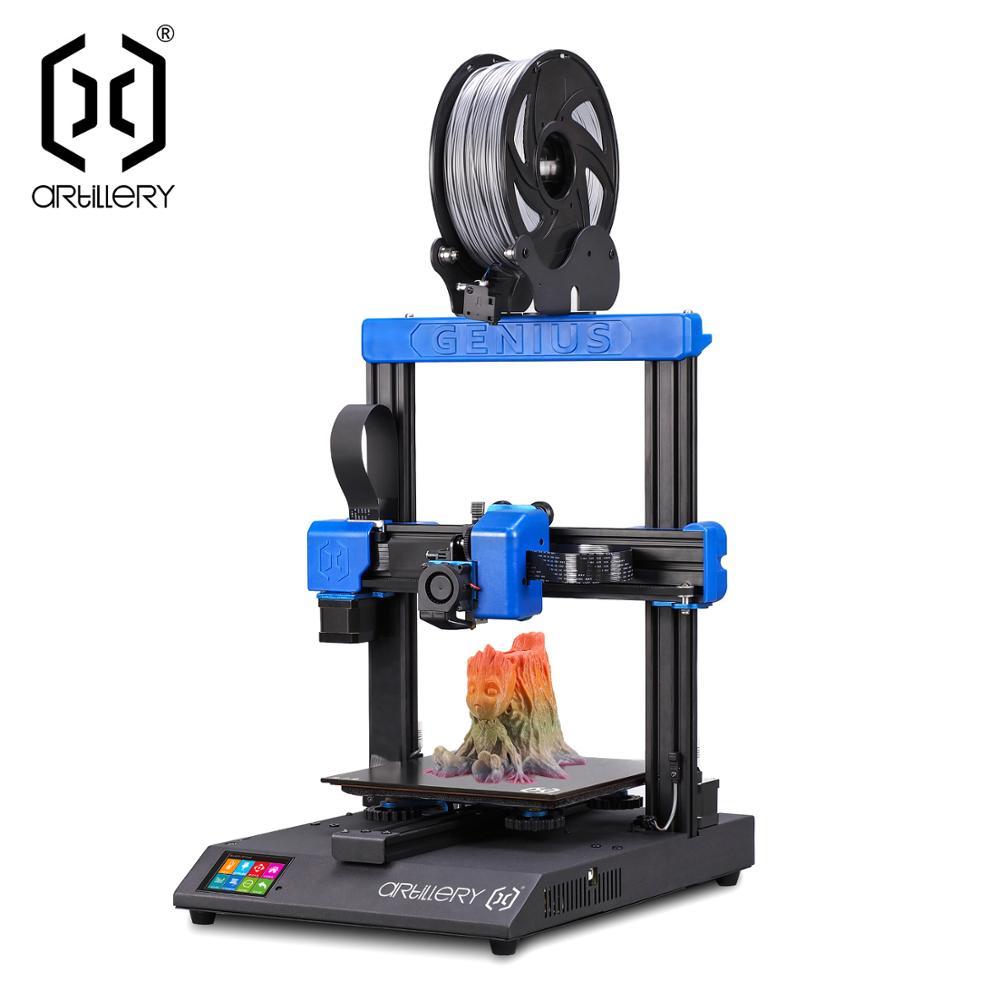 2019 yeni topçu genius 3d-printer I3 yüksek hassasiyetli masaüstü çift z ekseni TFT ekran % 95% bütünlük