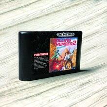 Rolling Thunder 2 Mỹ Nhãn Flashkit MD Electroless Vàng PCB Thẻ Cho Sega Genesis Megadrive Video Máy Chơi Game