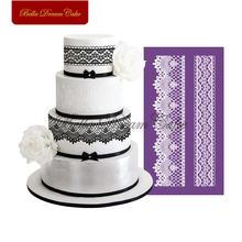 Кружевной полукруглый узор сетчатый трафарет для свадебного