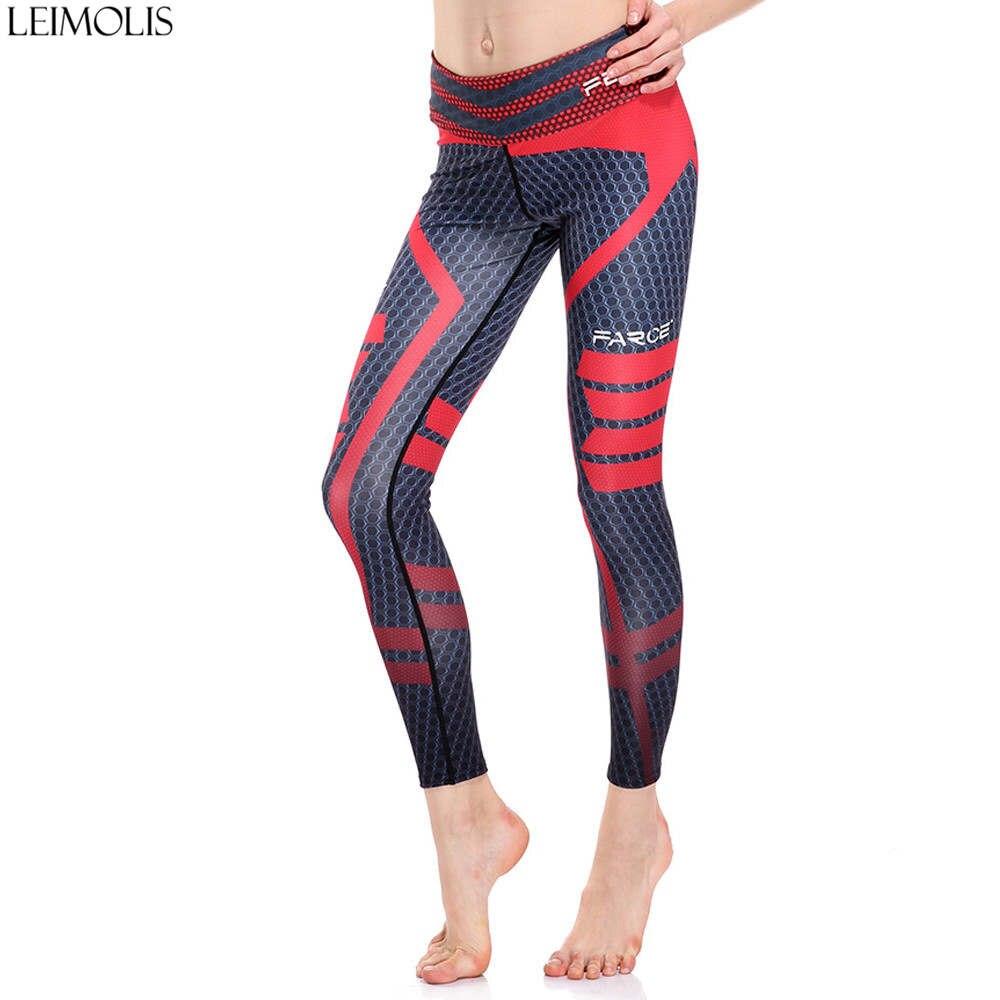 LEIMOLIS Geometry Stripe Dots Galaxy Black Cool Print Harajuku High Waist Workout Push Up Plus Size Fitness Leggings Women Pants