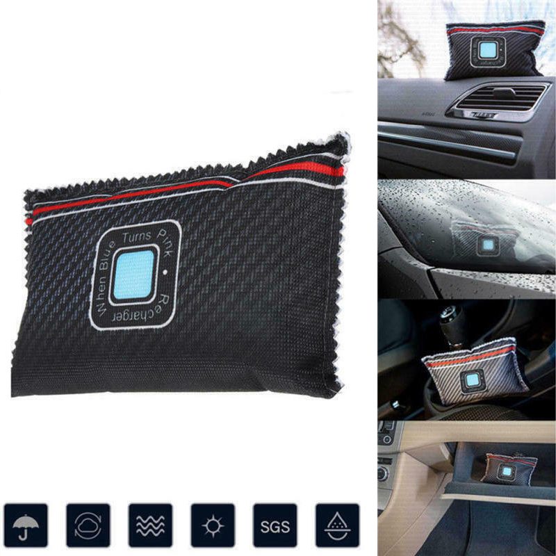 Reusable Car Desiccant Dehumidifier Anti Mist Moisture Absorbing Bamboo Charcoal Bag Home Office Supplies