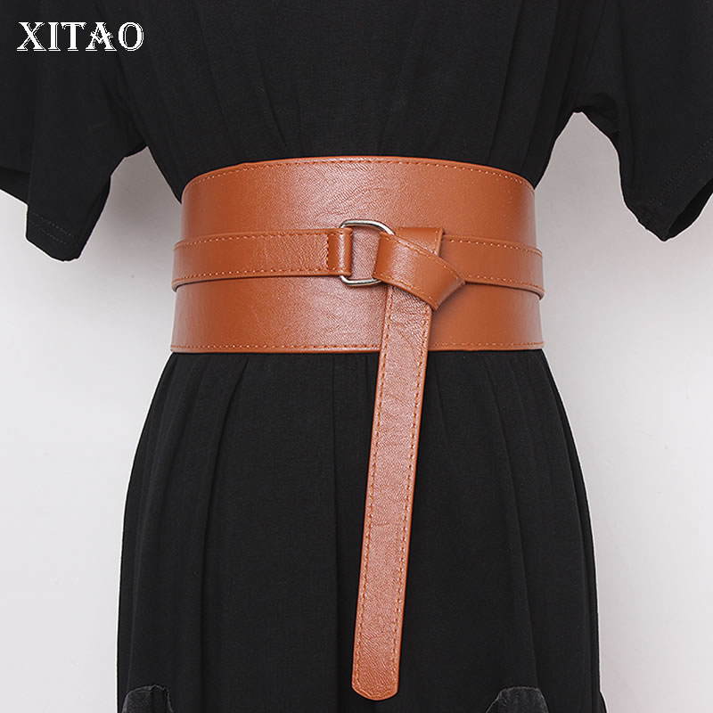 XITAO 2020 Spring Fashionable Irregular Corset Belt For Women Pu Leather Accessories Women Trend Wide Belt Streetwear GCC3192