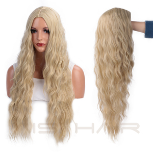 Image 4 - AISI HAIR  Long Wavy Blonde Wigs Black and Brown Natural Hair Heat Resistant Synthetic Wigs for Women African American