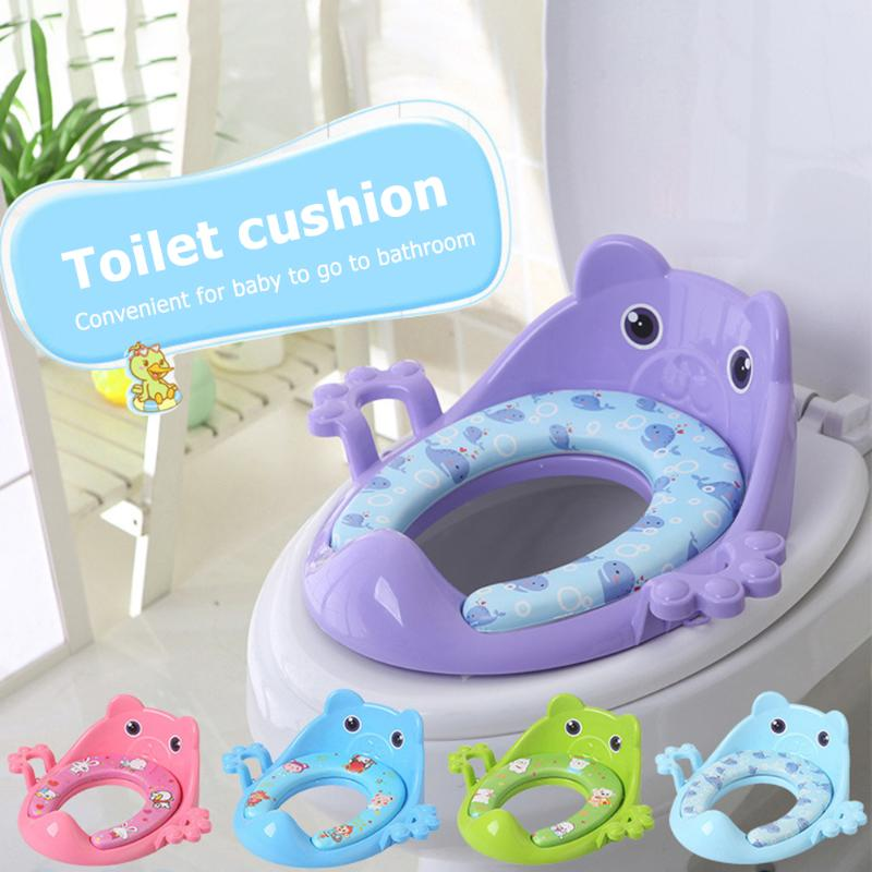 Cartoon Baby Toilet Potty Seat Cushion Classic Children Toilet Training PadColors And Simple Durable Design With Armrest