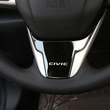 Acessórios interiores do carro volante guarnição decalque de lantejoulas adesivo para honda civic 2016 2017 2018 2019 2020 2021