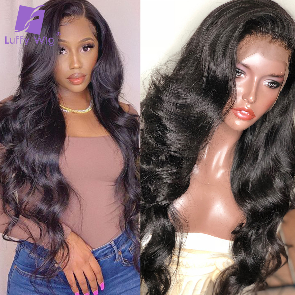 200 Density Loose Wave 13X6 Lace Front Human Hair Wigs Glueless Peruvian Remy Hair 4X4 Lace Closure Wig Pre Plucked Luffy