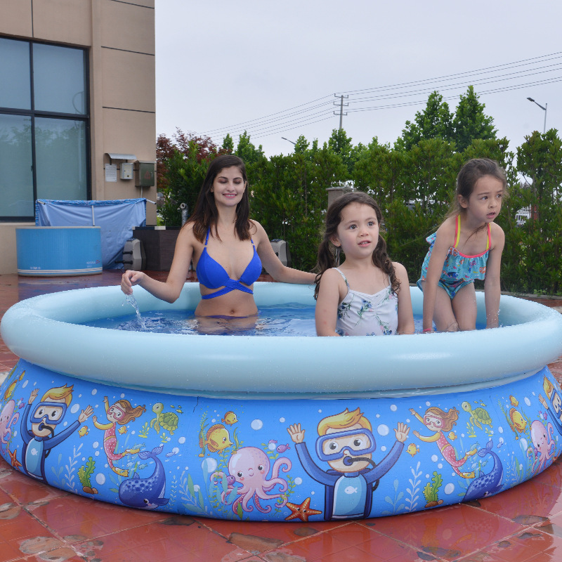 JILONG Inflatable Children Swimming Pool Summer Water Play Pool PVC Environmental Protection Thickened Cartoon Pool