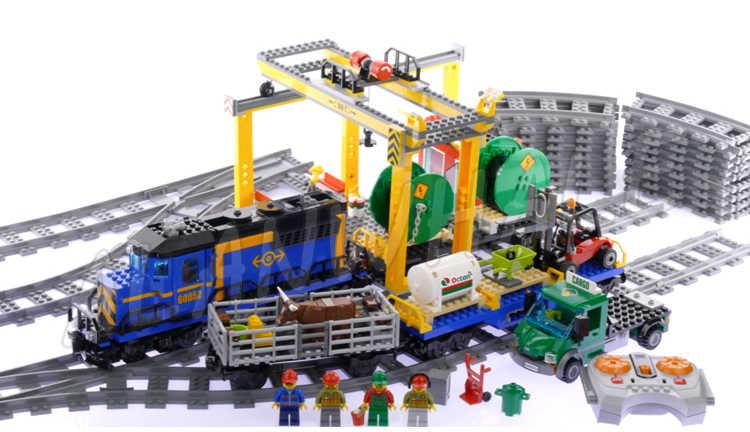 9 Soorten Stad Gemotoriseerde Afstandsbediening Cargo Trein Hobby Model Bouwsteen Speelgoed Baksteen Power Functies Compatibel Met Lago